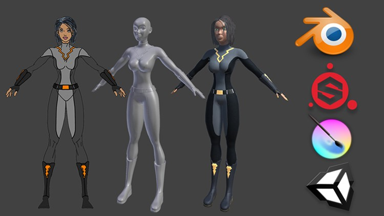 Create a Game Character: Blender, Substance Painter, Unity ...